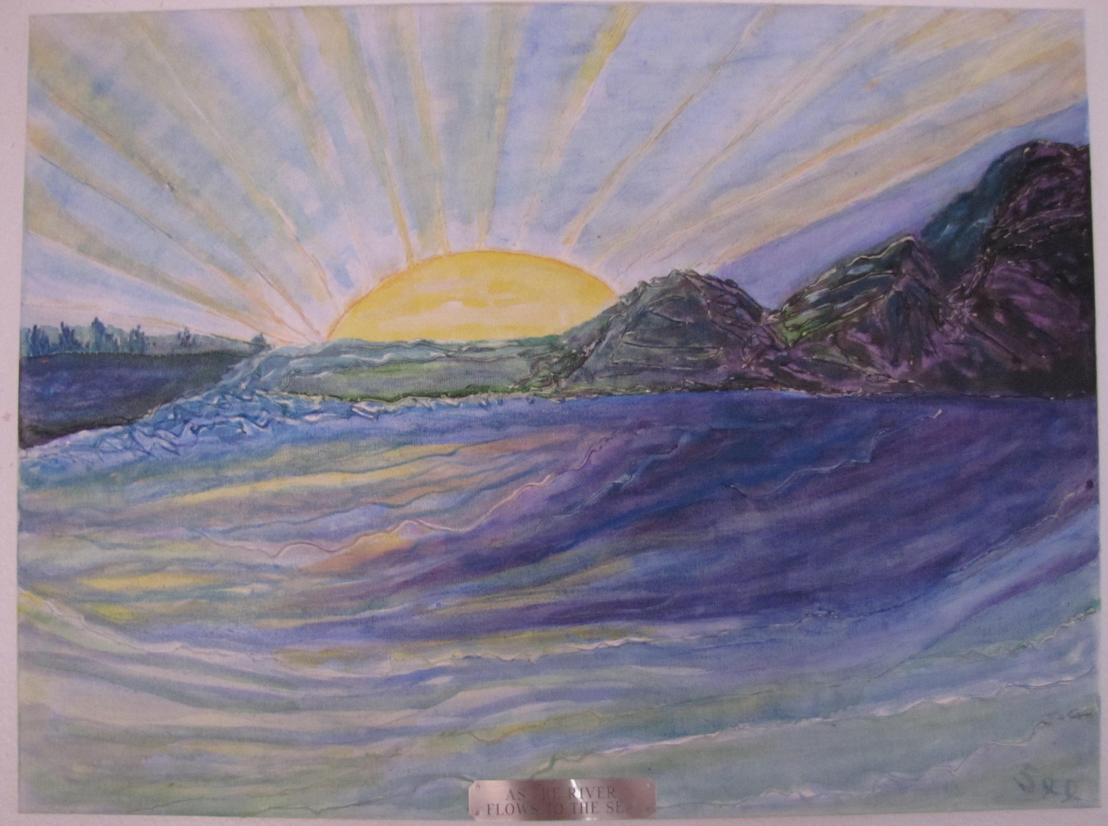 Sunrise and Sea - 18X24 - $175.00
