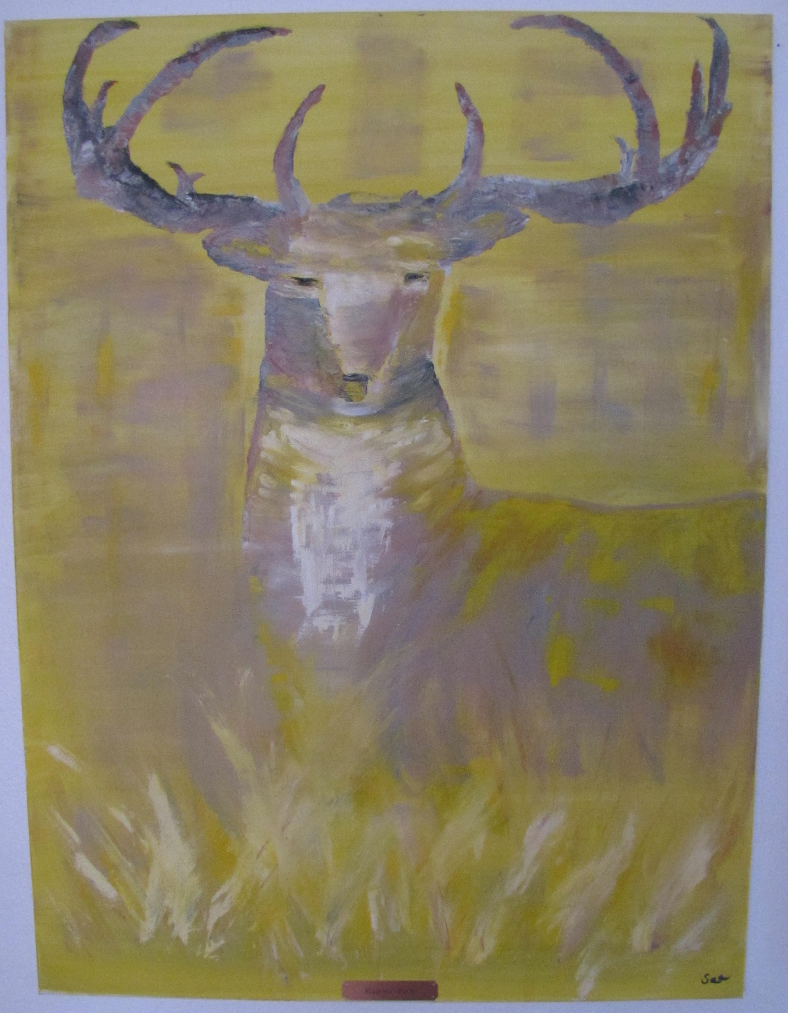 Buck on Gold - 30X40 - $325.00