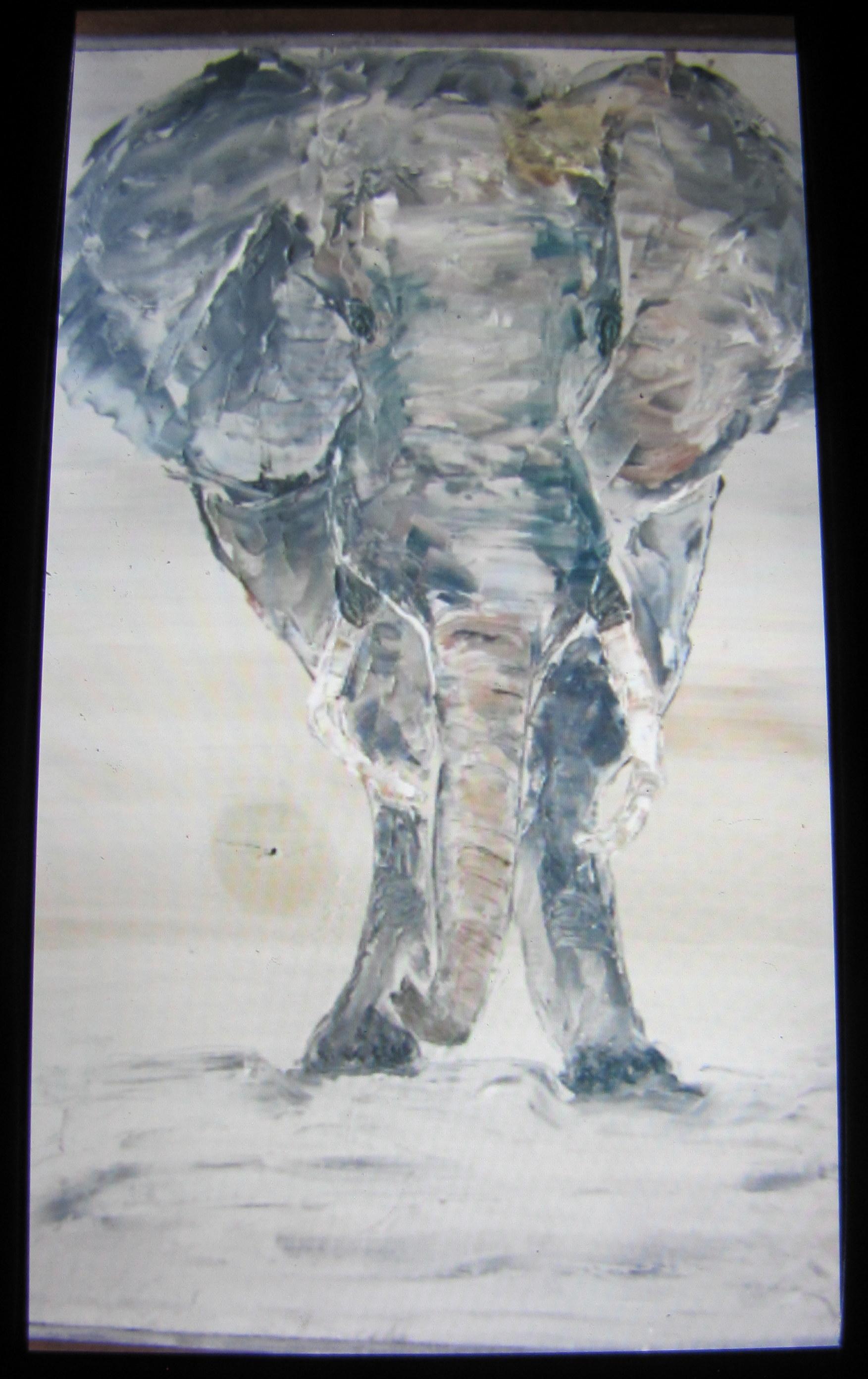 Elephant - Reclaimed Wood - 12X18 - $75.00